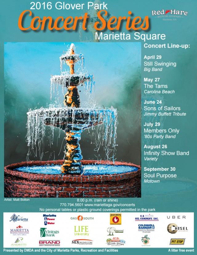 2016 Glover Park Concert Series Schedule