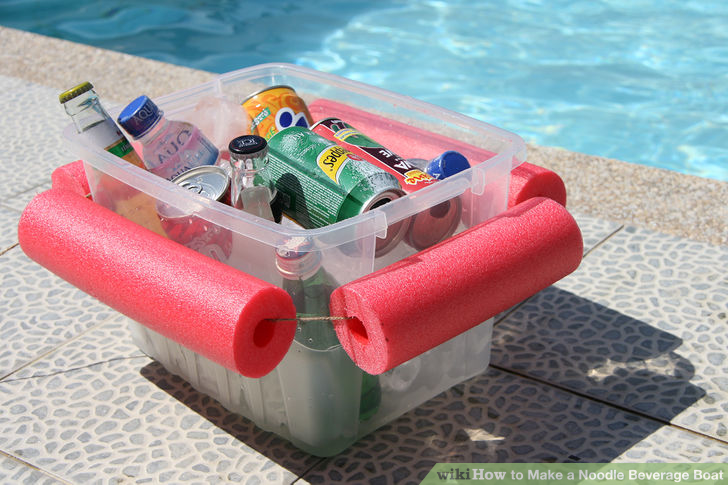 Pool Noodle Beverage Boat
