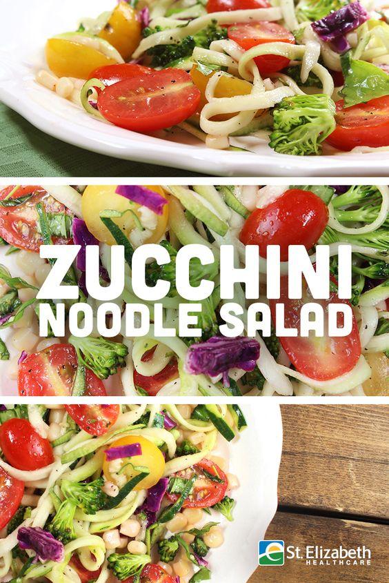 Easy Zucchini Noodle Salad
