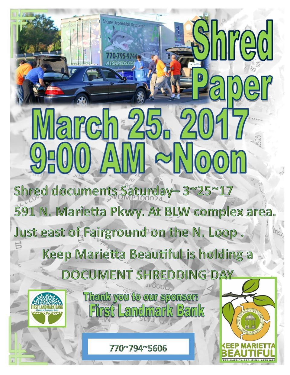 Marietta Shredding Event